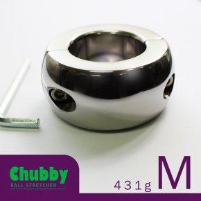 【Mサイズ】CHILL FACTOR Chubby チャビー ボールストレッチャー ねじ式 118 メタル コックリング ステンレス 睾丸
