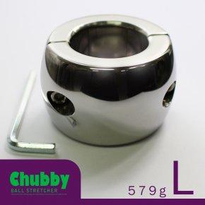 【Lサイズ】CHILL FACTOR Chubby チャビー ボールストレッチャー ねじ式 118 メタル コックリング ステンレス 睾丸