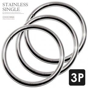 521MN コックリング シングル 1連 【3本セット】 003 シングル メタル ステンレス