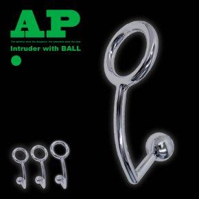 コックリング一体型 AP シングルボール イントルーダ アナルプラグ 016