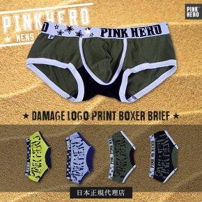 【日本正規代理店】PINKHERO ダメージロゴ・バックプリント スーパーローライズ ボクサーパンツ 008