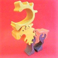 木製動物パズル トナカイ(となかい)    /トナカイグッズ/アニマルパズル/木のおもちゃ/知育玩具/