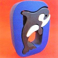 木製アルファベットパズル O    orca   シャチ オルカ      /アルファベットパズル/木製パズル/木のおもちゃ/知育玩…