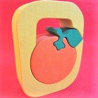 木製アルファベットパズル O    orange  オレンジ ミカン      /アルファベットパズル/木製パズル/木のおもちゃ/知育玩…