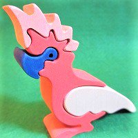 木製動物パズル オウム(おうむ)     /オウムグッズ/アニマルパズル/木のおもちゃ/知育玩具/
