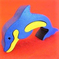 木製動物パズル イルカ(いるか)   /イルカグッズ/アニマルパズル/木のおもちゃ/知育玩具/