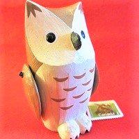 おとぎの森のミミズク みみずく(茶)(フクロウふくろう)  /ぽれぽれ動物/木製/雑貨/置物/ハンドメイド