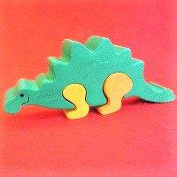 木製恐竜パズル ステゴサウルス(すてごさうるす)      /恐竜グッズ/ダイナソーパズル/木のおもちゃ/知育玩…
