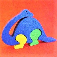 木製恐竜パズル プロトサウルス(ぷろとさうるす)      /恐竜グッズ/ダイナソーパズル/木のおもちゃ/知育玩…