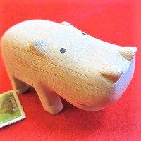 ぽれぽれ動物  カバ(かば)             /動物/ポレポレ動物/木製/雑貨/置物/ハンドメイド/手作り