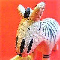 ぽれぽれ動物  シマウマ(しまうま)      /動物/ポレポレ動物/木製/雑貨/置物/ハンドメイド/手作り