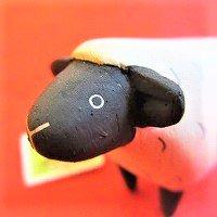 ぽれぽれ動物 ヒツジ(ひつじ 羊)     /動物/ポレポレ動物/木製/雑貨/置物/ハンドメイド/手作り