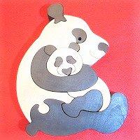 木製動物パズル 大きいパンダ      /パンダグッズ/アニマルパズル/木のおもちゃ/知育玩具/
