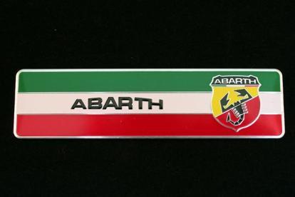 【ネコポスOK】ABARTH(アバルト)3D アルミエンブレム Bタイプ