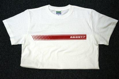 ABOUT? パロディー Tシャツ【XLサイズ】