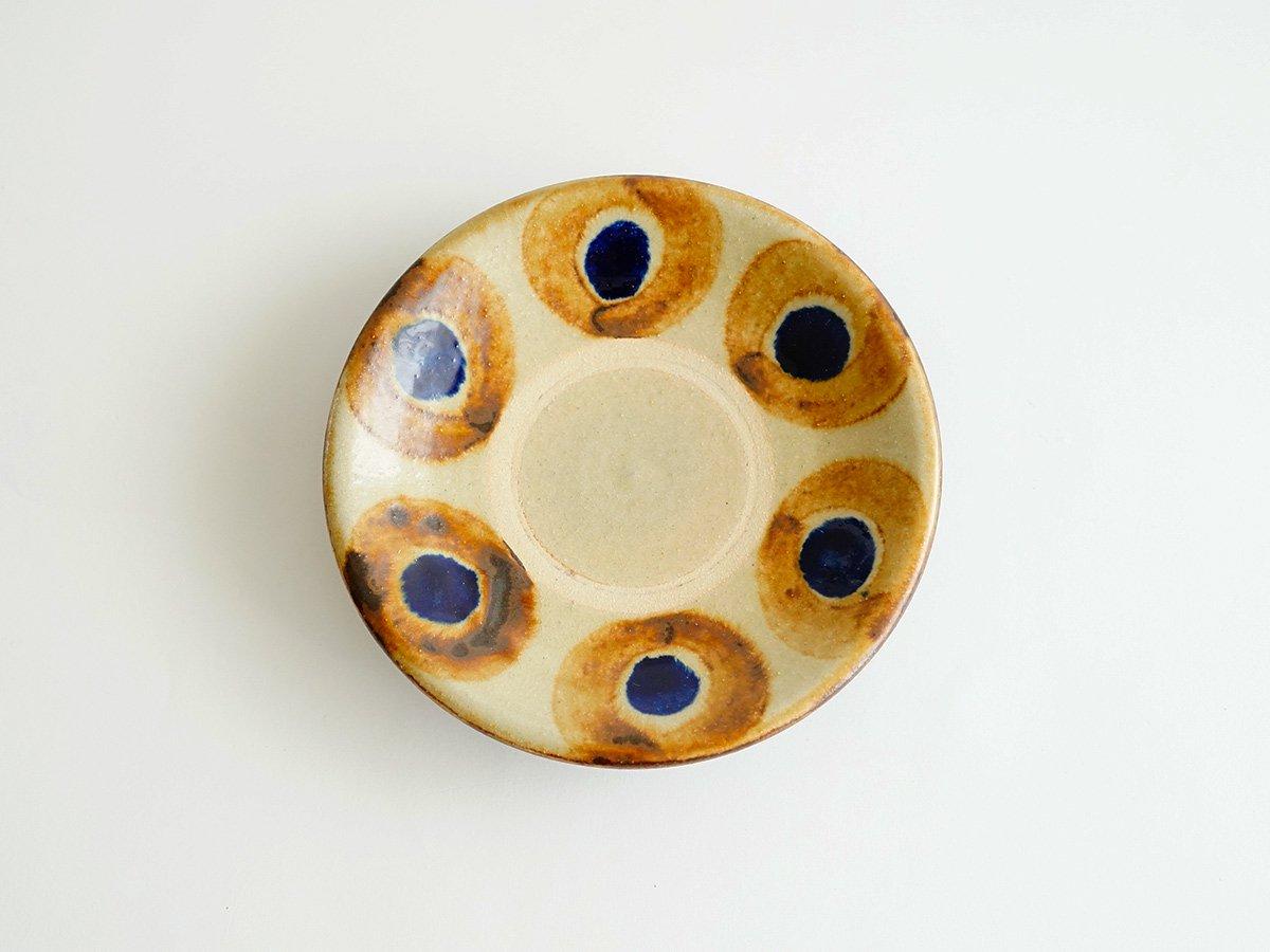 5寸皿  丸紋茶