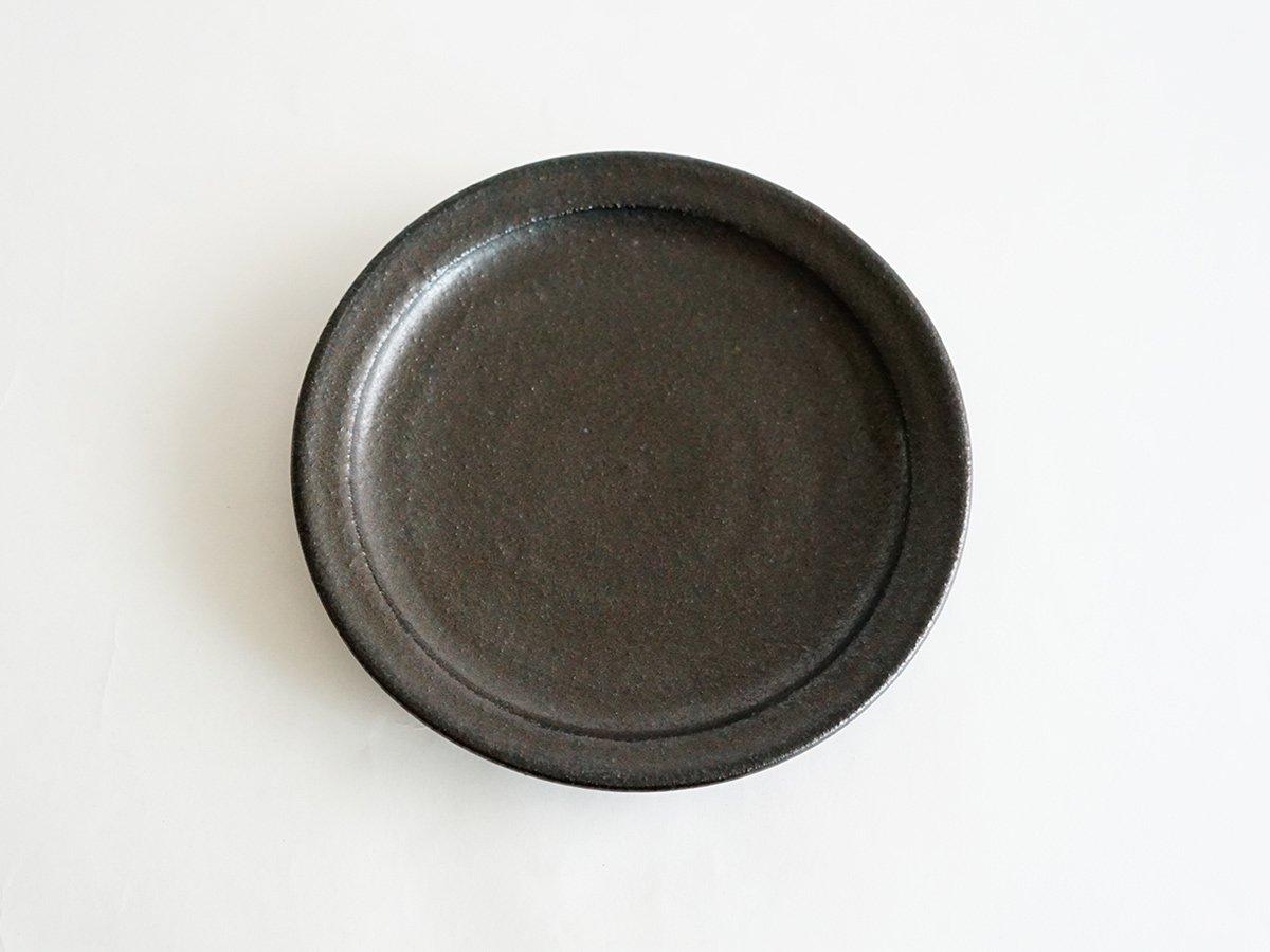 平皿 18cm 黒 中村恵子