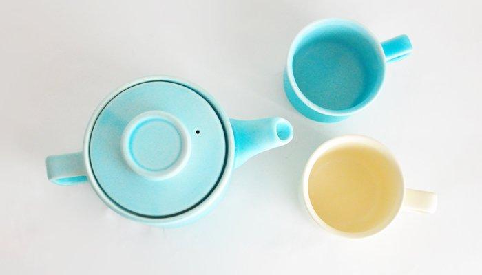 【Gift】スティルク(stilk) 水色 ティーセット
