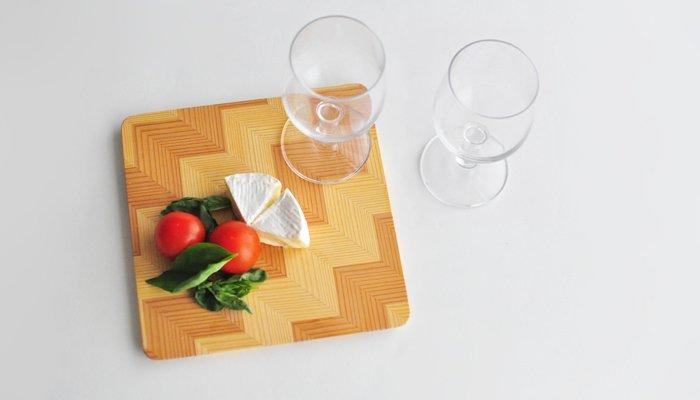 Common ワイングラス2pcs &スクエアプレート ギフトセット