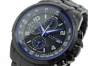 フルボデザイン ソーラー アラーム クロノグラフ 腕時計 FS404BBKBL