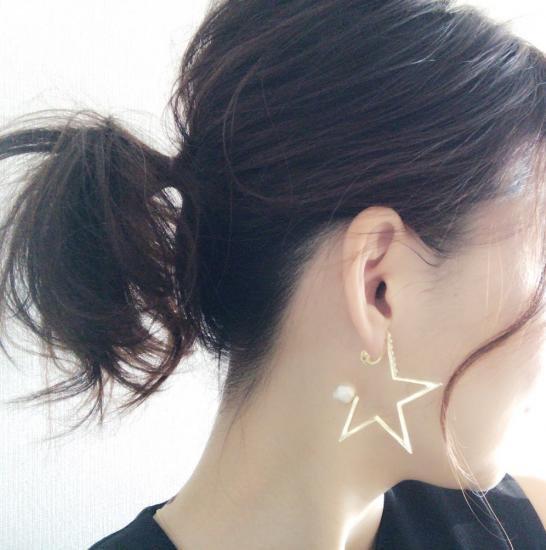 星型エアーイヤリング&ピアス  予約販売!12月中旬発送開始!
