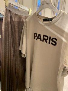 予約販売!Paris Tシャツ(ホワイト、チャコール、ベージュ)4月お届け