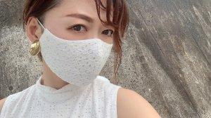 小花レースマスク