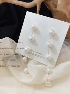 【予約販売4月上旬お届け】Long pearl ピアス/イヤリング変更可