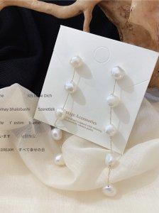 Long pearl ピアス/イヤリング