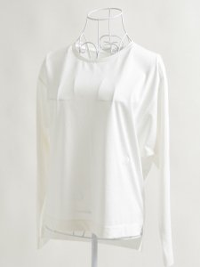 ロゴ刺繍カットソー(ホワイト)