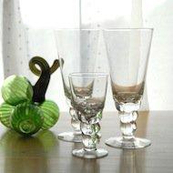 Nuutajarvi Oiva Toikka Mukura sherry glass  / ヌータヤルヴィ オイヴァ・トイッカ ムクラ グラス(小)