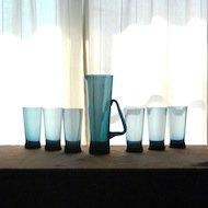 Riihimaen Lasi Sakari Pykala Milano  / リーヒマエンラシ  ミラノ  カラフェ&グラス6個セット