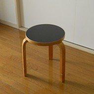 1950年代 Alvar Aalto artek Stool60 / アルヴァ・アアルト アルテック スツール No.60 黒リノリウム