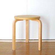 1960年代 Alvar Aalto artek Stool60 / アルヴァ・アアルト アルテック スツール No.60 ビニールレザー(黄)