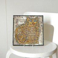Gustavsberg Lisa Larson UNIK KATT / グスタフスベリ リサ・ラーソン 猫の陶板
