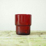 Nuutajarvi Saara Hopea stacking glass  / ヌータヤルヴィ サーラ・ホペア 1718 スタッキンググラス(赤)