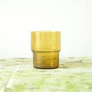 Nuutajarvi Saara Hopea stacking glass  / ヌータヤルヴィ サーラ・ホペア 1718 スタッキンググラス(黄)