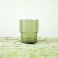 Nuutajarvi Saara Hopea stacking glass  / ヌータヤルヴィ サーラ・ホペア 1718 スタッキンググラス(緑)