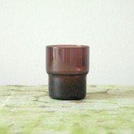 Nuutajarvi Saara Hopea stacking glass  / ヌータヤルヴィ サーラ・ホペア 1718 スタッキンググラス(紫)