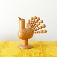 Aarikka Peacock object /  アーリッカ  孔雀のオブジェ