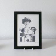 Gustavsberg Stig Lindberg lithograph  / グスタフスベリ スティグ・リンドベリ リトグラフ モノクロ