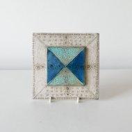 【P.O.R 価格はお問い合わせください】Rut Bryk  tile / ルート・ブリュック   陶板(白×青 W17cm)