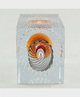 オレンジ2006年iittala nuutajarvi Oiva Toikka  14/ 100 キューブ