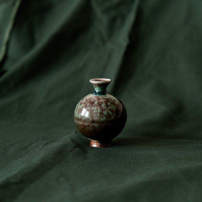 Gustavsberg Berndt Friberg  /  グスタフスベリ  ベルント・フリーベリ 緑色花器