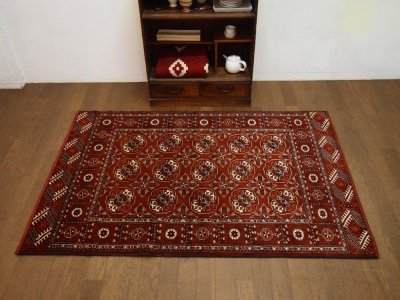 部族絨毯(トライバルラグ) トルクメン     b13524