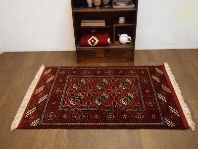 部族絨毯(トライバルラグ) トルクメン     tfg13538