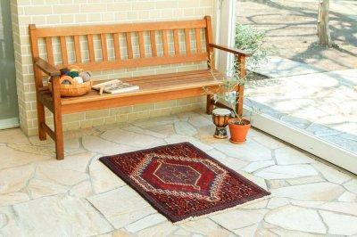 ペルシャ家庭織り絨毯     セネ  16518
