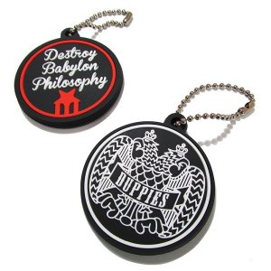 "【DUPPIES】RUBBER KEY HOLDER ""2 FACE"""
