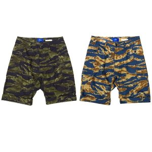 【IRIE LIFE】BIG CAMO SHORTS / LAST GREEN