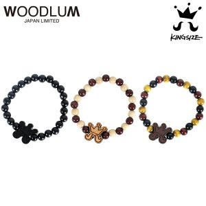 【KINGSIZE】× WOODLUM HiGE WOOD BRACELET / LAST BLACK